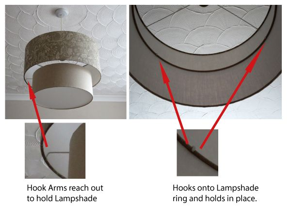2 tier lampshade frame system 40cm 30cm